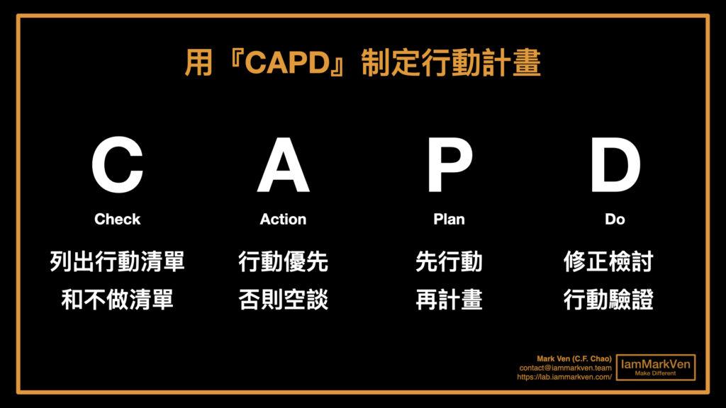 高執行力的關鍵是什麼?最強行動計劃的方法,《最強CAPD法則》讀書實戰分享
